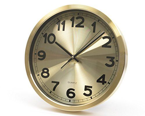 12 Basic Luxury Metallic Gold Colored Wall Mounted Analog Clock You Can Get More Details By Clicking On The Image Clock Analog Clock Wall Clock