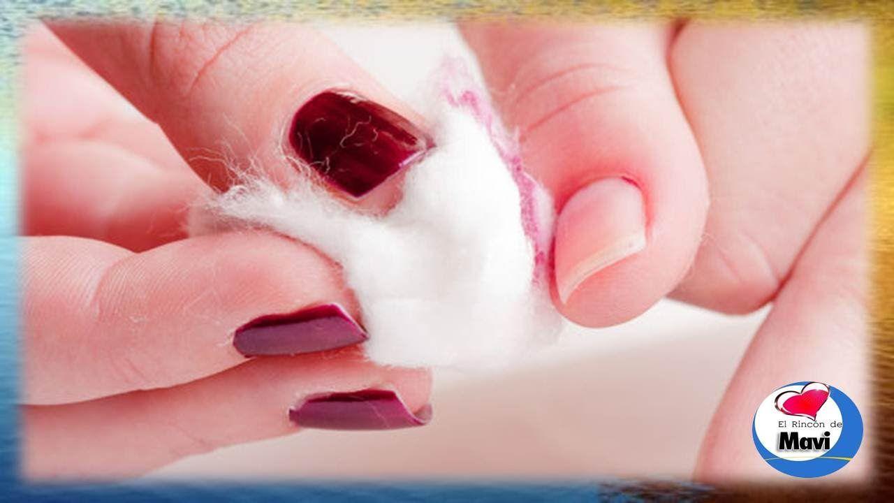 Como quitar el esmalte de uñas sin acetona o removedor | Repara ...