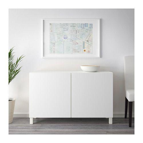 Ikea Besta Gloss White Cabinet With Doors