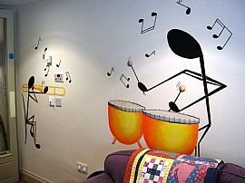 Music room wall decor | Music room decor