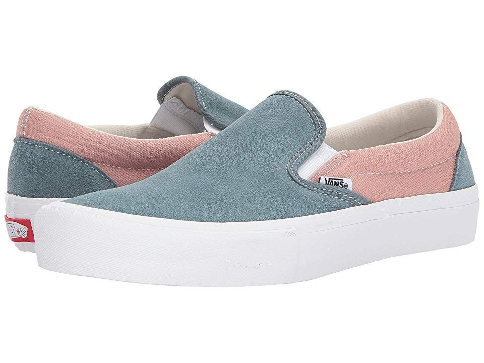 Vans SlipOn Pro Goblin BlueMahogany Rose Mens Skate Shoes A style so iconic it needs no introduction Keep it moving with the classic Cali style of the Vans SlipOn Pro Fea...