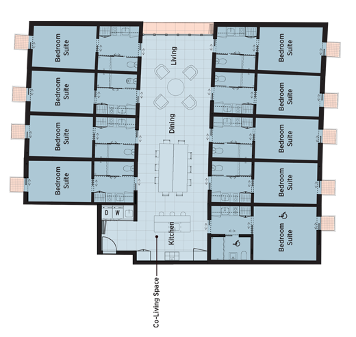 Cluster House Floor Plan: Low Cost Cluster Housing Floorplans