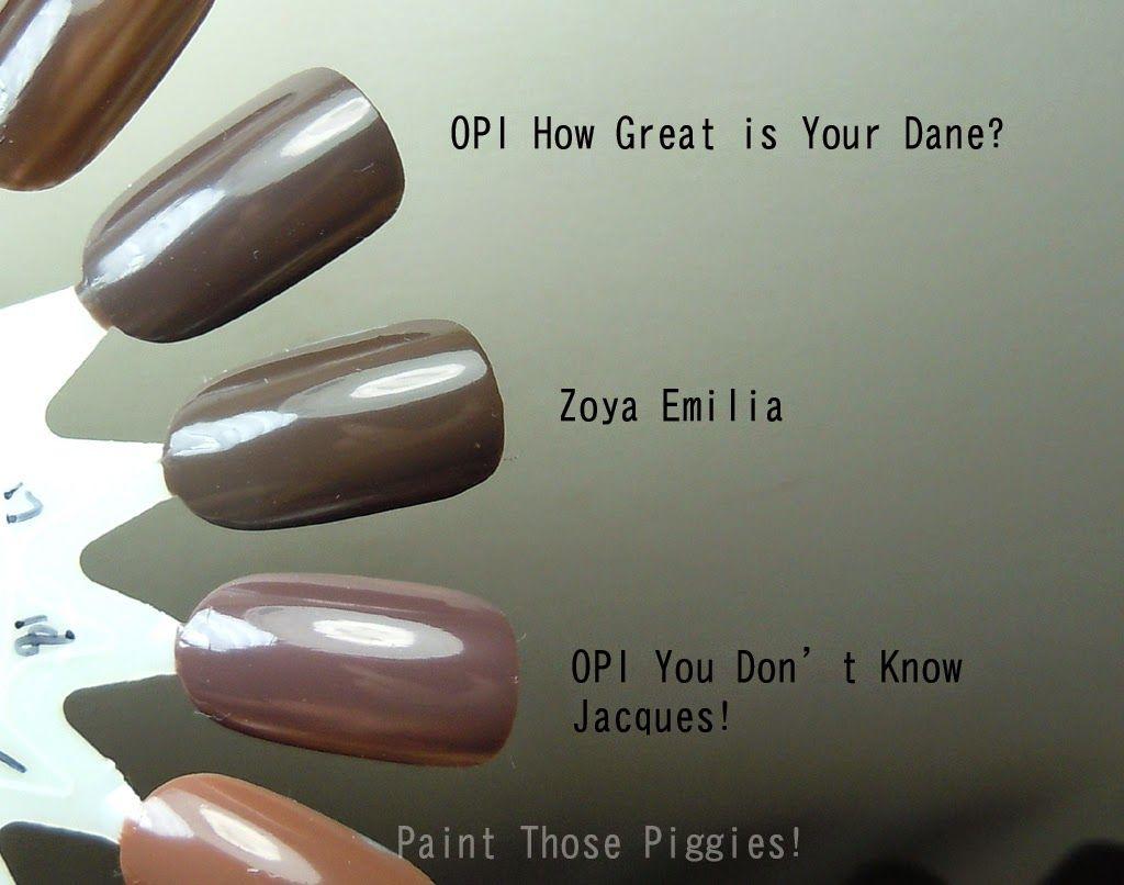 Paint Those Piggies! OPI   How Great Is Your Dane? v Zoya   Emilia v ...