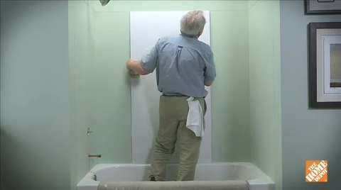How To Install Glue Up Shower Walls Bathtub Walls Shower Wall Shower Wall Panels