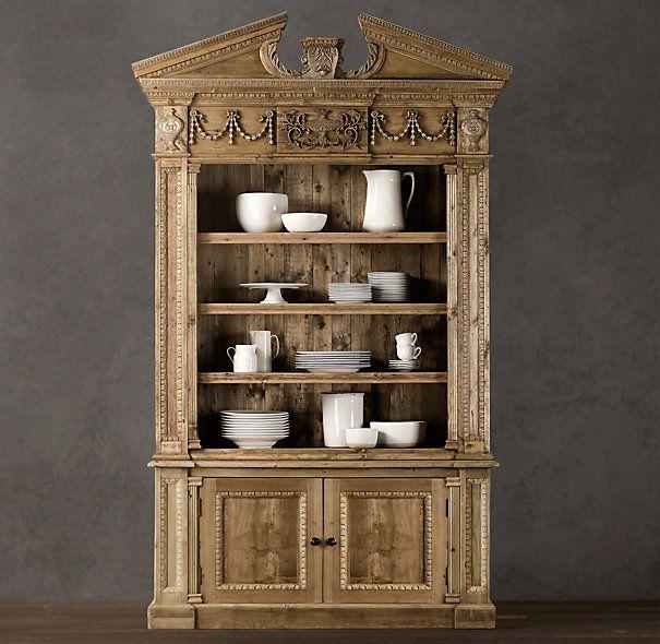 Entablature Bookcase Cabinet