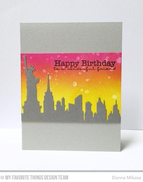 Three Umbrellas Cas E This Sketch 181 Happy Birthday Greeting Card Birthday Greeting Cards Card Sketches