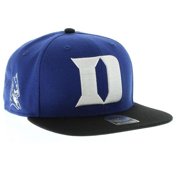 85f02c55dc5 Duke Blue Devils 47 Brand Sure Shot 2 Tone SNAPBACK New Era Caps