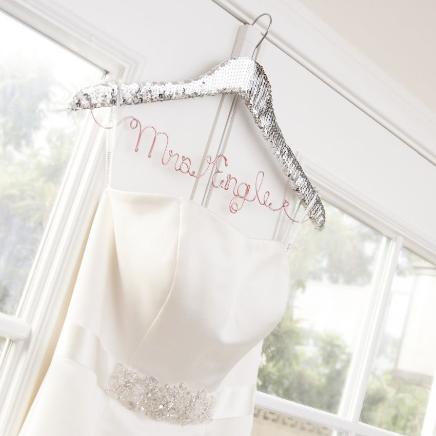 These Personalized Sequin Hangers are the perfect match for your ...