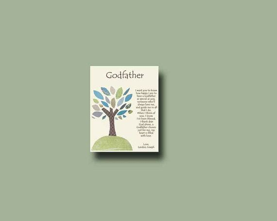 Godfather gift  Personalized gift for Godfather by BoutiqueBlu