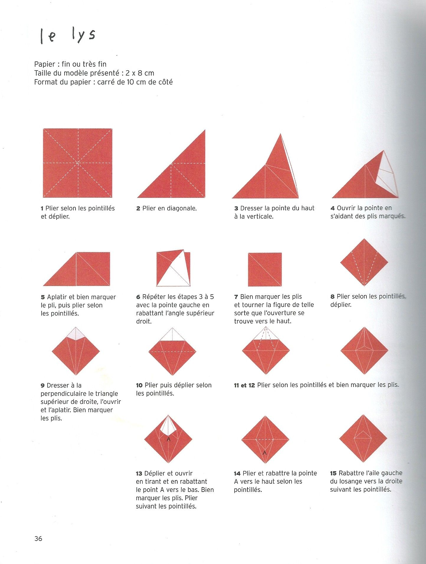 origami lys part 1