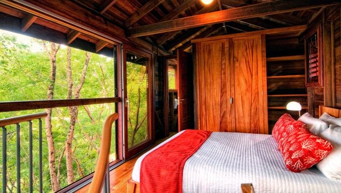 Mapou Bungalow: The top-floor bedroom gives the feeling of a treehouse - for adults.