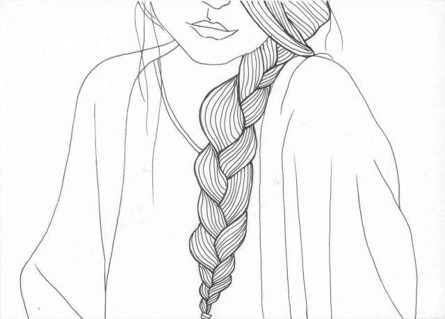 how to draw a braid i draw fashion - 640×459