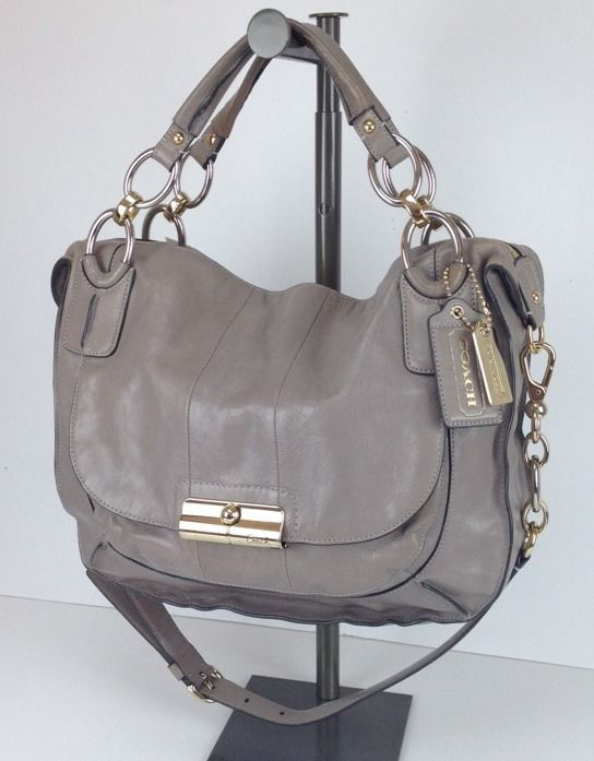 16823 coach kristin elevated sage gray leather round satchel bag rh pinterest com