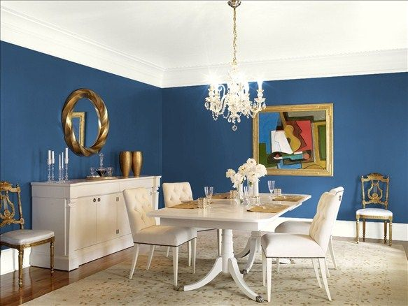 Benjamin Moore New York State Of Mind Dining Room Colors Dining Room Paint Colors Dining Room Blue
