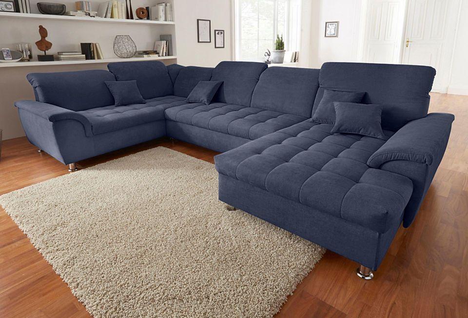 Quelle Sofa wohnlandschaft wahlweise mit bettfunktion und kopfteilverstellung