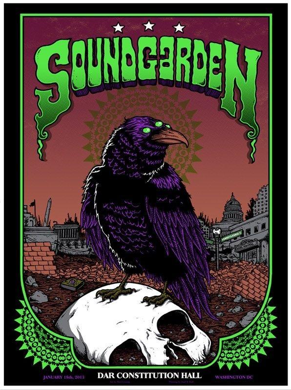 Soundgarden Washington DC  Poster by Matt Leunig