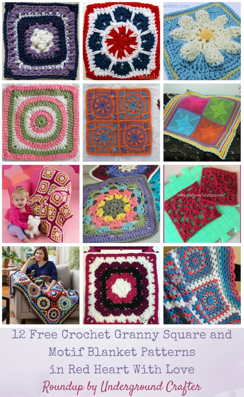 Roundup: 12 free crochet granny square and motif blanket patterns in ...