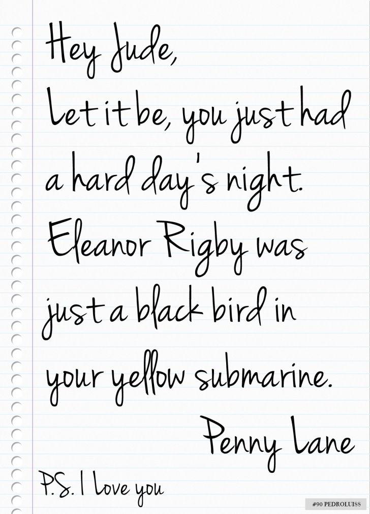 A Beatles Love Letter | Power of words | Pinterest | Beatles ...