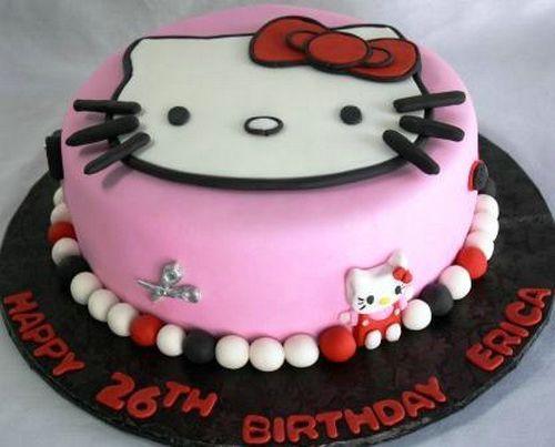 Beautiful Hello Kitty Birthday Cake Round Kids Birthday Cakes