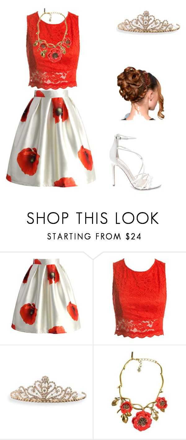 """""""Autumn"""" by lunaeclipse469 ❤ liked on Polyvore featuring Chicwish, Sans Souci, BillyTheTree, Oscar de la Renta and Steve Madden"""