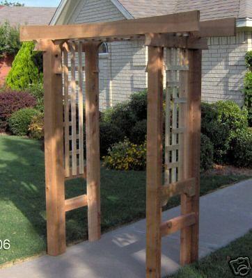New japanese style cedar wood garden arbor pergola arch for Japanese style gazebo plans