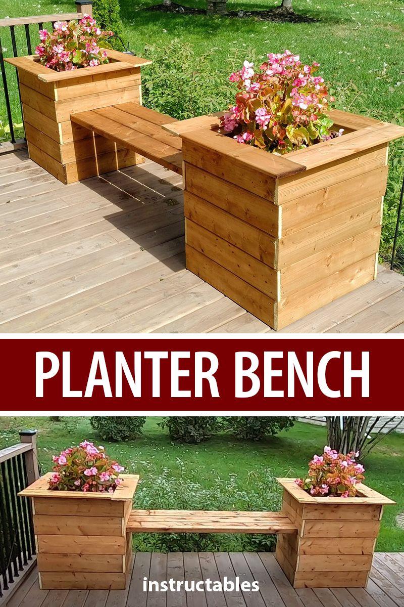Simple Planter Bench Planter Bench Backyard Landscaping Designs Patio Planters