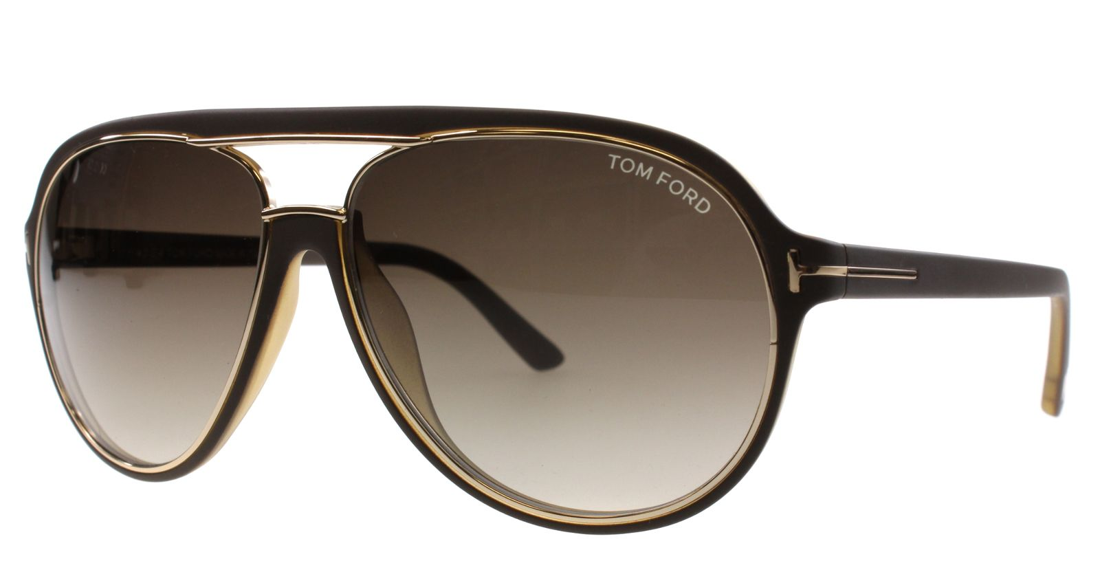 pin new tom ford sunglasses men aviator tf 379 brown 50k. Black Bedroom Furniture Sets. Home Design Ideas