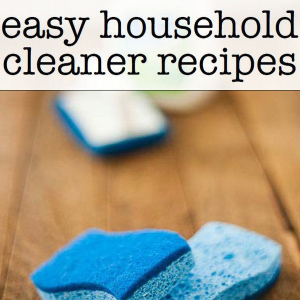 Easy Household Cleaner Recipes (Download Your Book!)