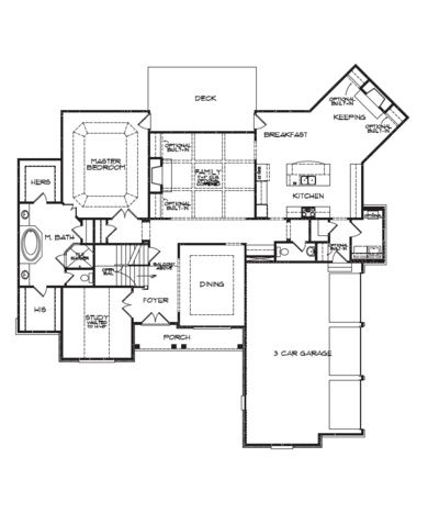 Floorplans With Plarooms Off Living Room An Angled Keeping Room Off The Open Kitchen And A Vaulted Study Floor Plans House Floor Plans House Plans