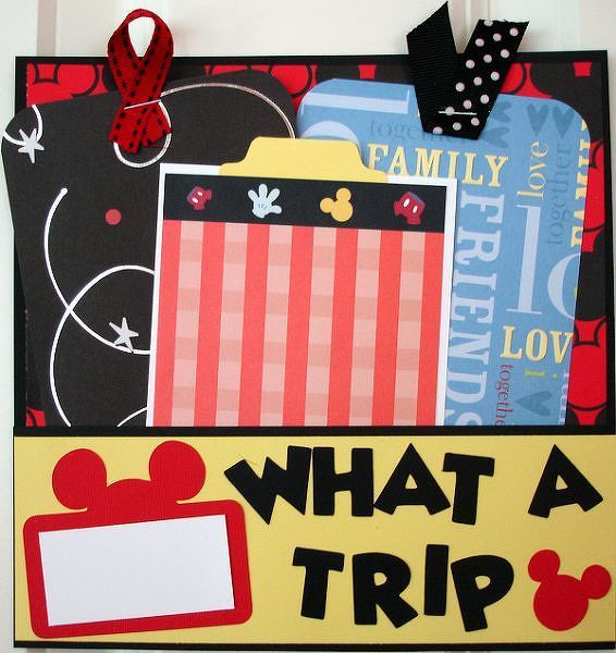 Pocket Disney Scrapbook Album Page Disney Pinterest