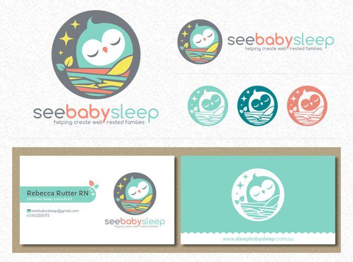 Logo and stationery design by Loveshugah #POTD99 10.15.2013 #baby #bird #nest #pastels