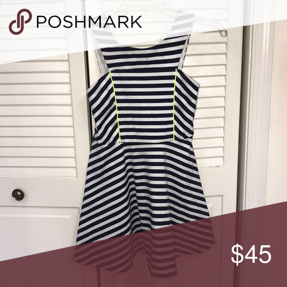 2587d9c07a68 Bloomingdales Dress Bloomingdales navy blue and white stripped mini dress,  size L, but it