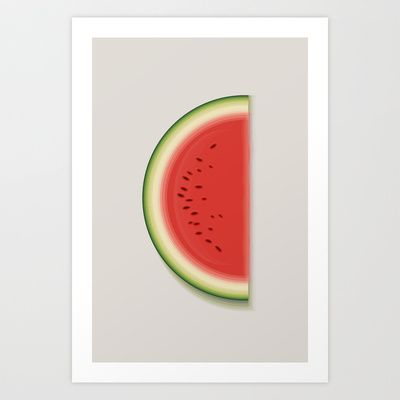 'The Watermelon' Art Print by NOT MY TYPE - $18.00 #society6