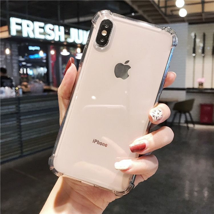 iPhone X & iPhone XS Case - Clear Flexible Gel Phone Cover [Anti-Yellow]