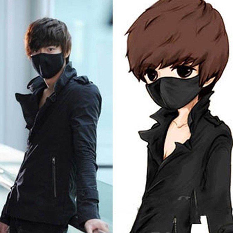 Black Cotton Respirator Mask Korean Style Bts Kpop Ninja Ayo Teo Mask Fashion Clothing Shoes Accessories Costumesree Cycling Women Cotton Mouth Face Mask