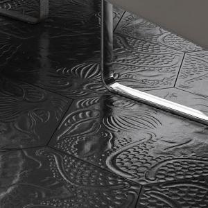 merola tile gaudi hex black 8 5 8 in x