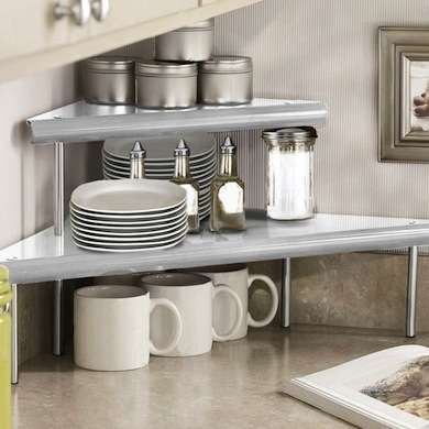 Freestanding Shelves Like These From Beyond The Rack Give You A Clever Efficient Way To Use That Often Kitchen Counter Storage Kitchen Shelves Kitchen Corner