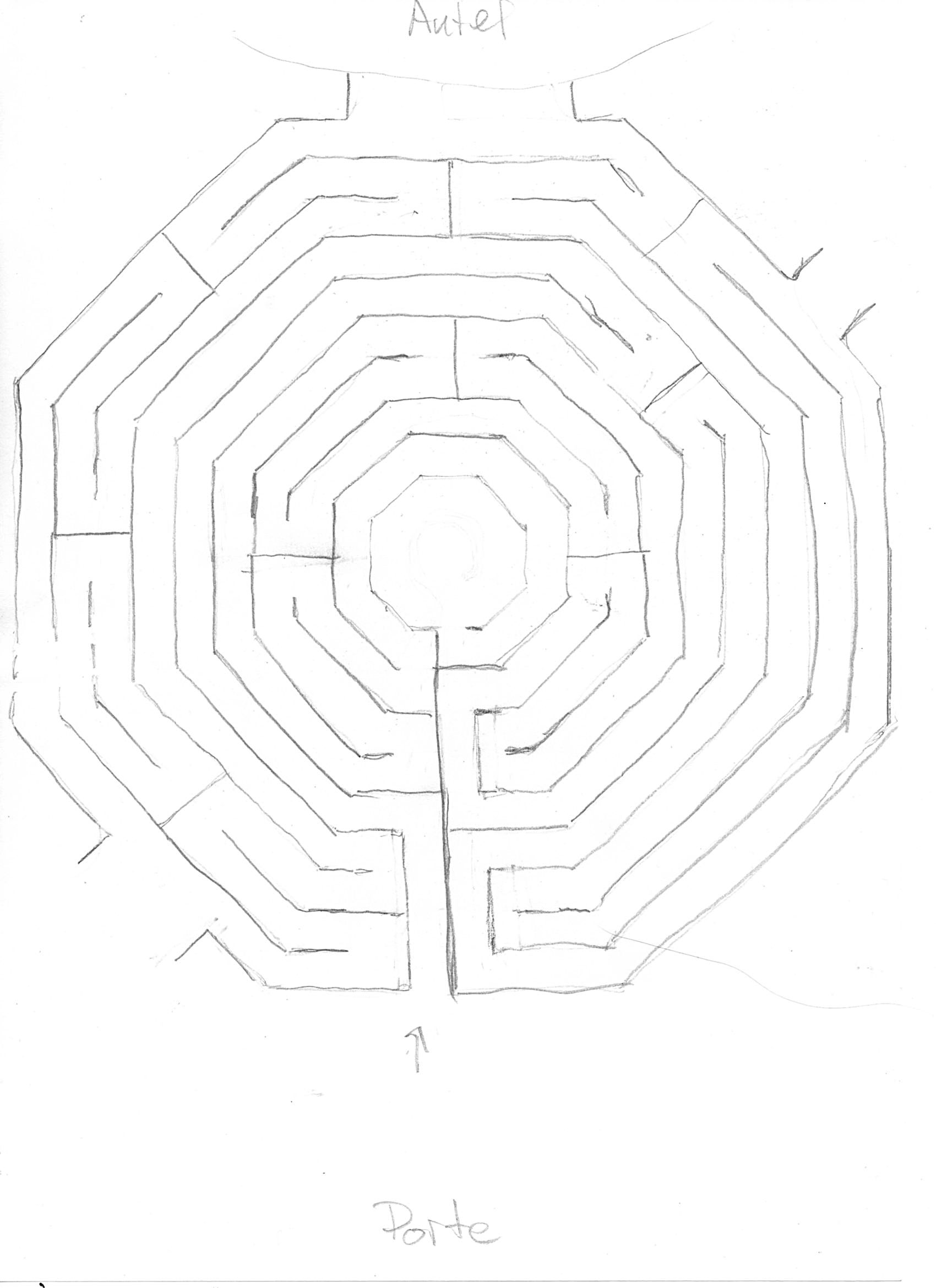 New Labyrinth Design Circuit Classical From A 5circuit Chartres