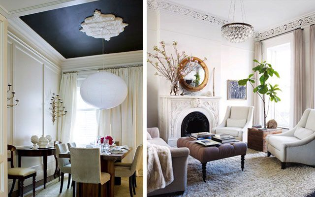 Ideas para decorar techos con molduras y rosetones clásicos ...