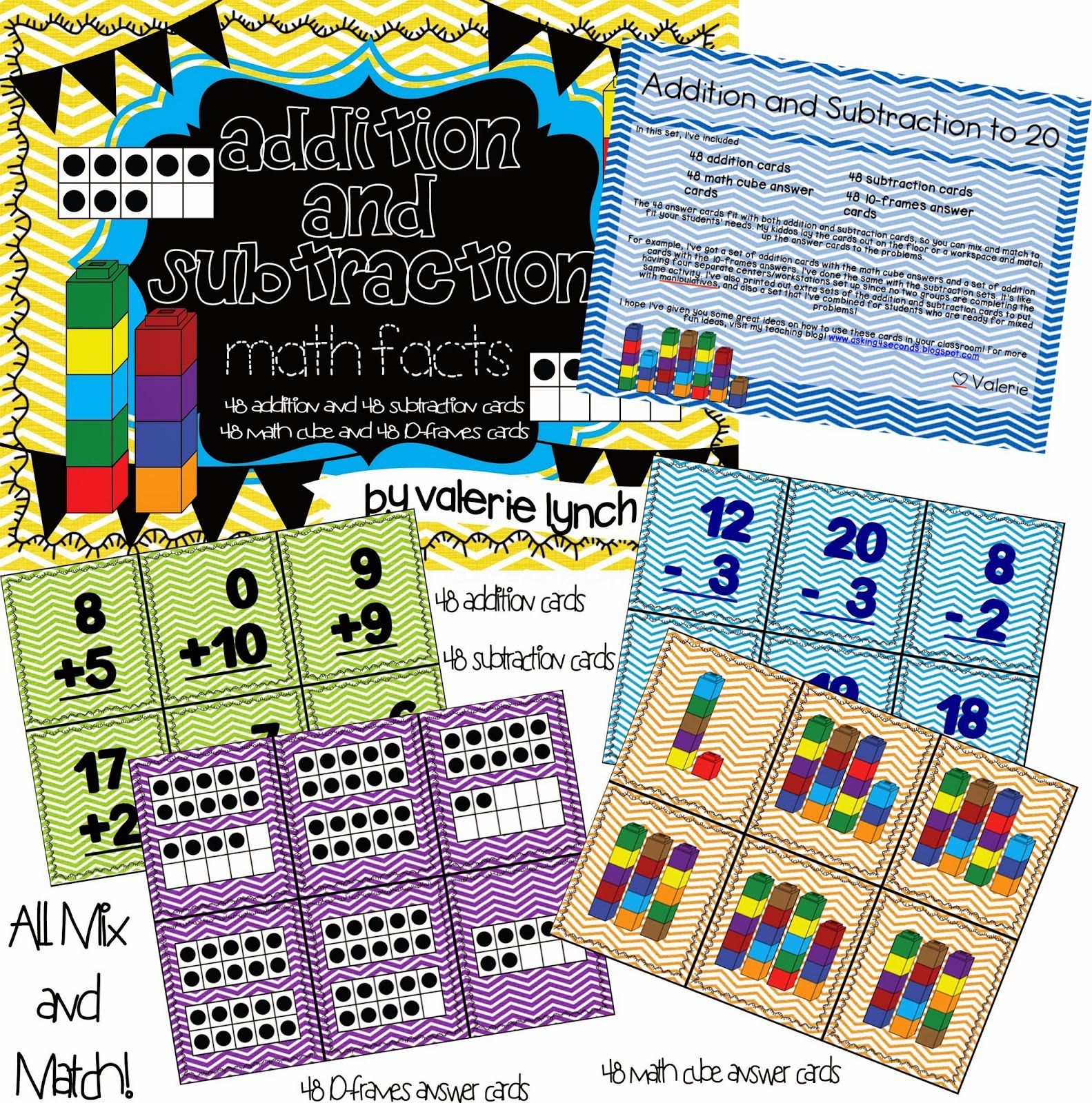 Addition And Subtraction To 20 48 Math Problems For