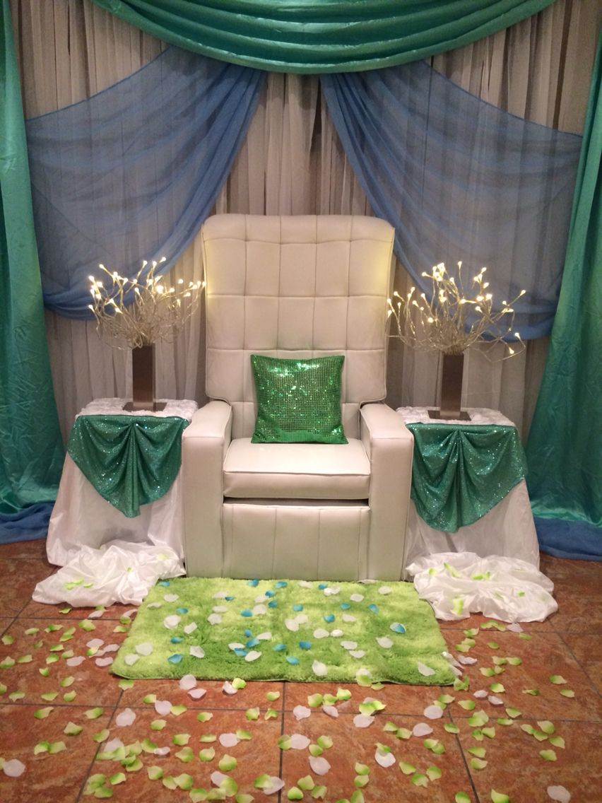 Baby Chair Rental And Backdrop Design Www.richeventdecor.com