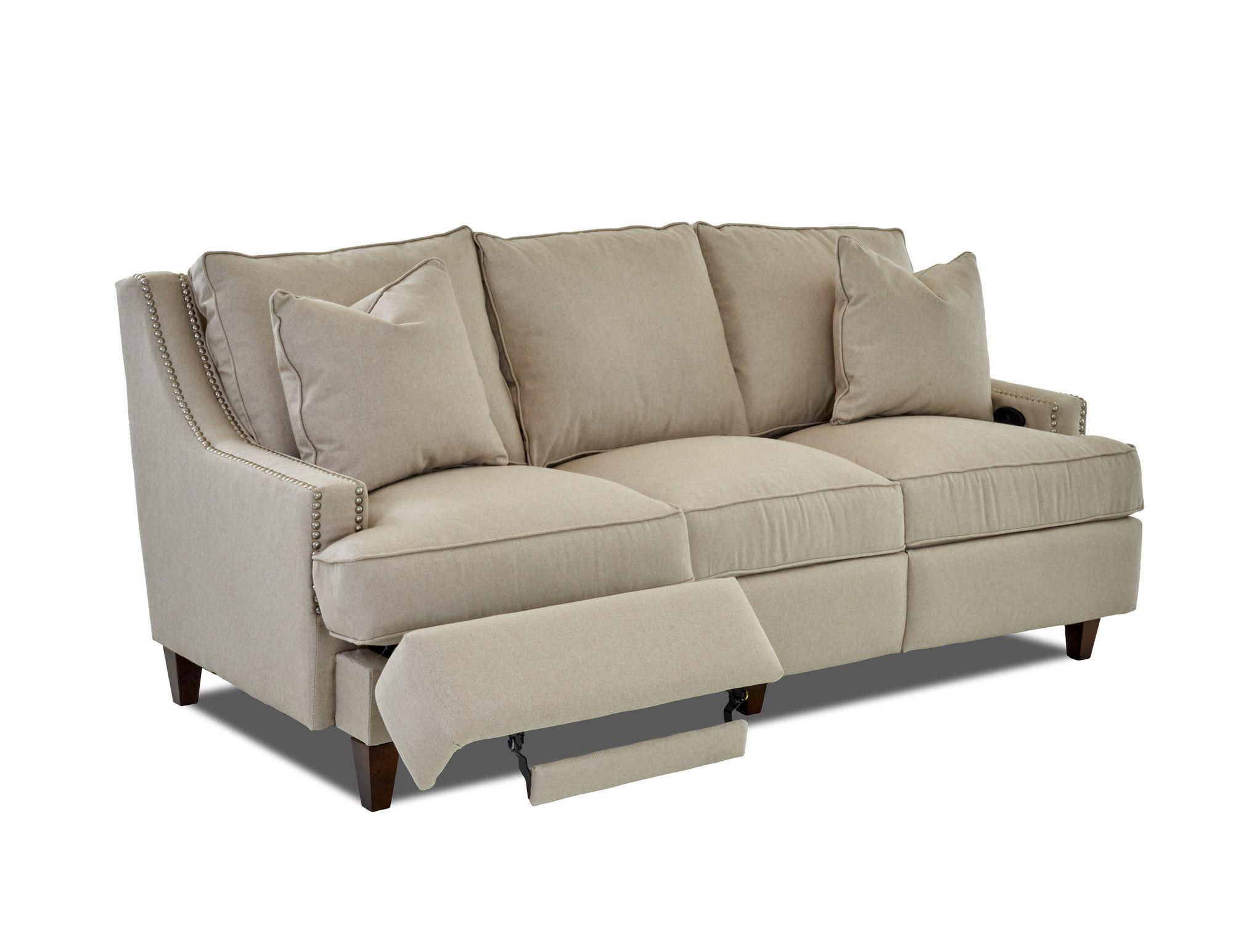 Wayfair Custom Upholstery Tricia Power Hybrid Reclining Sofa
