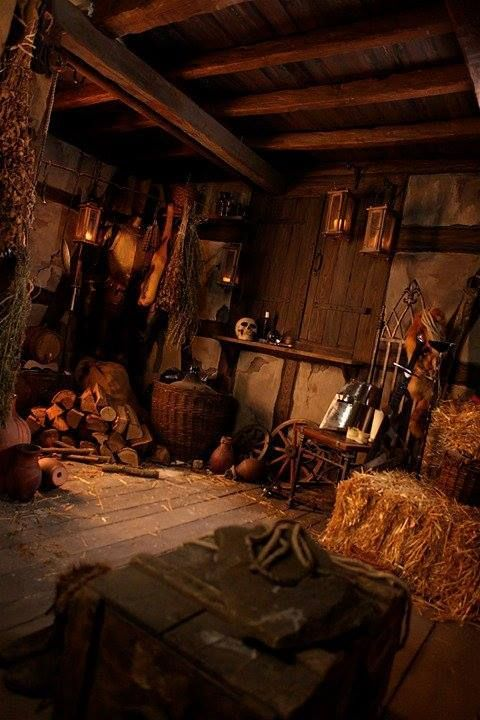 Domythic Bliss: Baba Yaga's Home: The Decor of Fairy Tales I #witchcottage