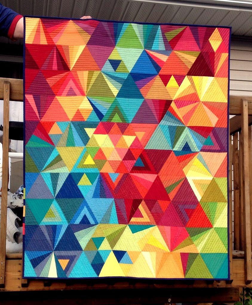 Geometric Quilt, Quilts, Quilt Patterns