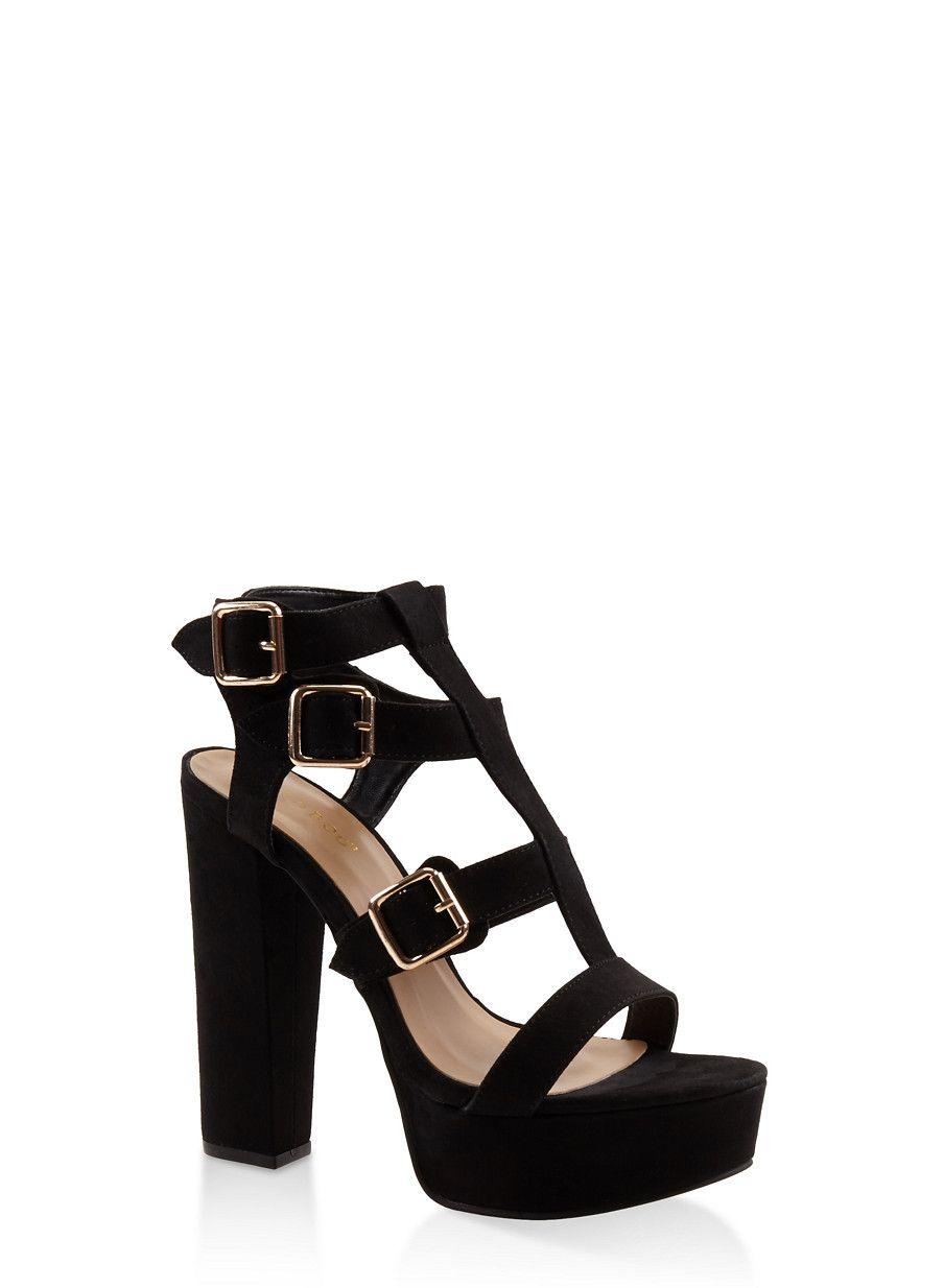 b45e420d9b2 Gladiator High Heel Platform Sandals - Black - Size 6