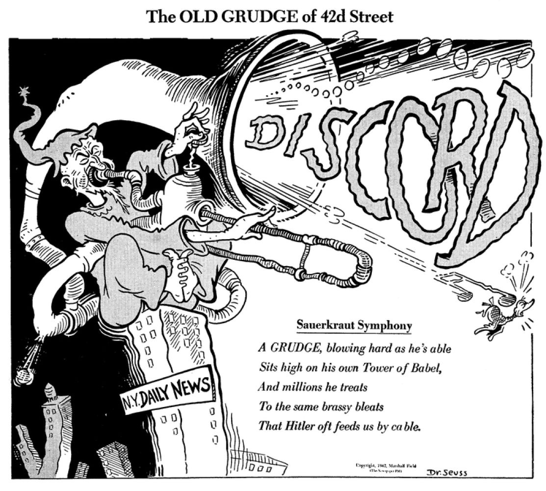 Lost Dr Seuss Cartoons Show Another Side Of The Author
