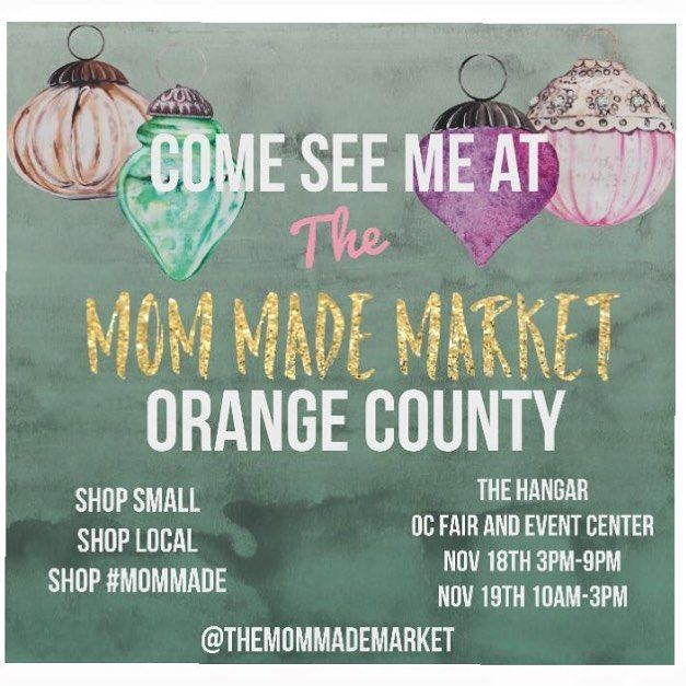 Today's the day! Come shopping at the Mom Mad Market from 3-9 today ad 10-3 tomorrow for all of your holiday gift needs! Stop by booth 16 and my Instagram followers will get 20% off all purchases! See you there!
