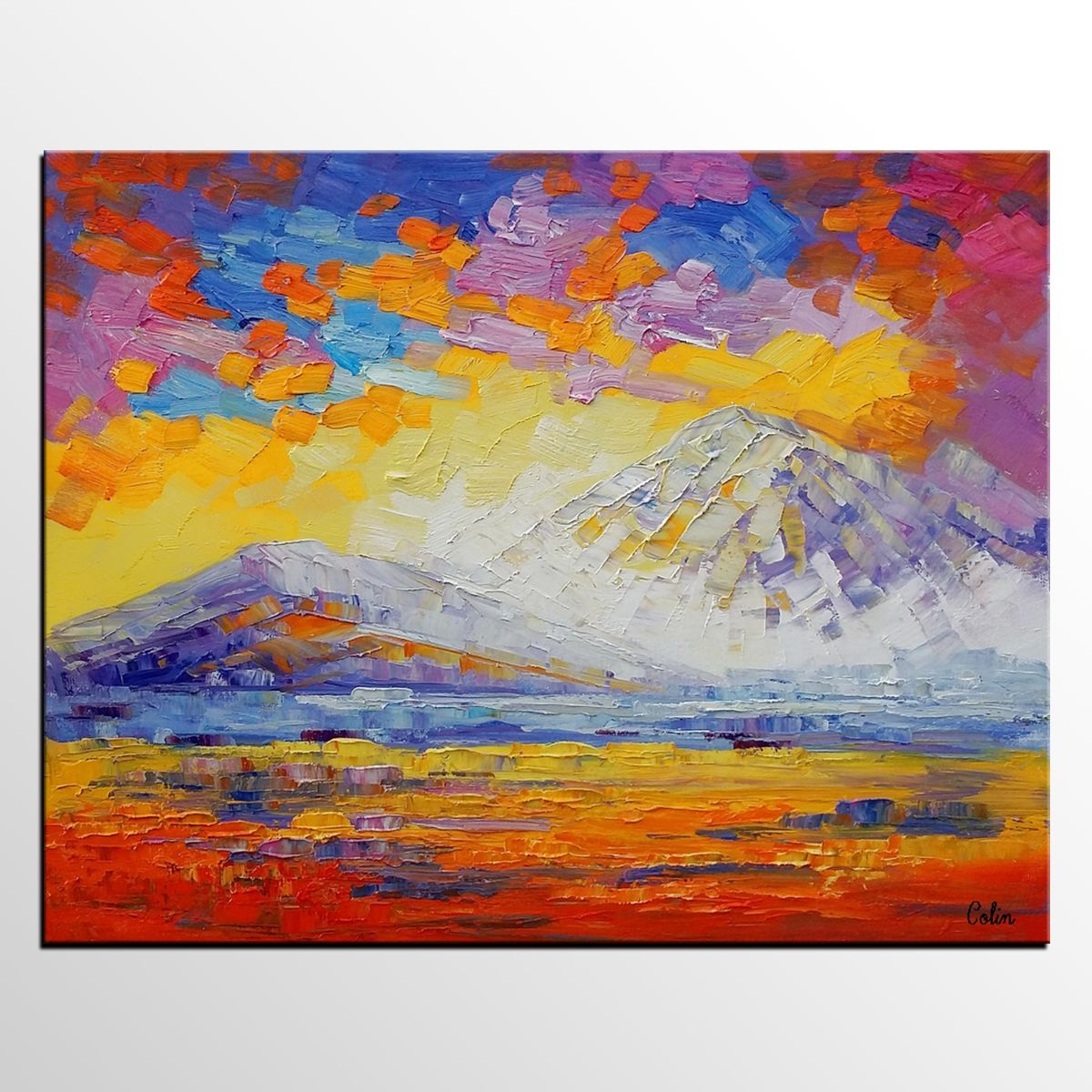 Original Painting, Landscape Painting, Oil Painting, Abstract Painting,  Large Art, Canvas