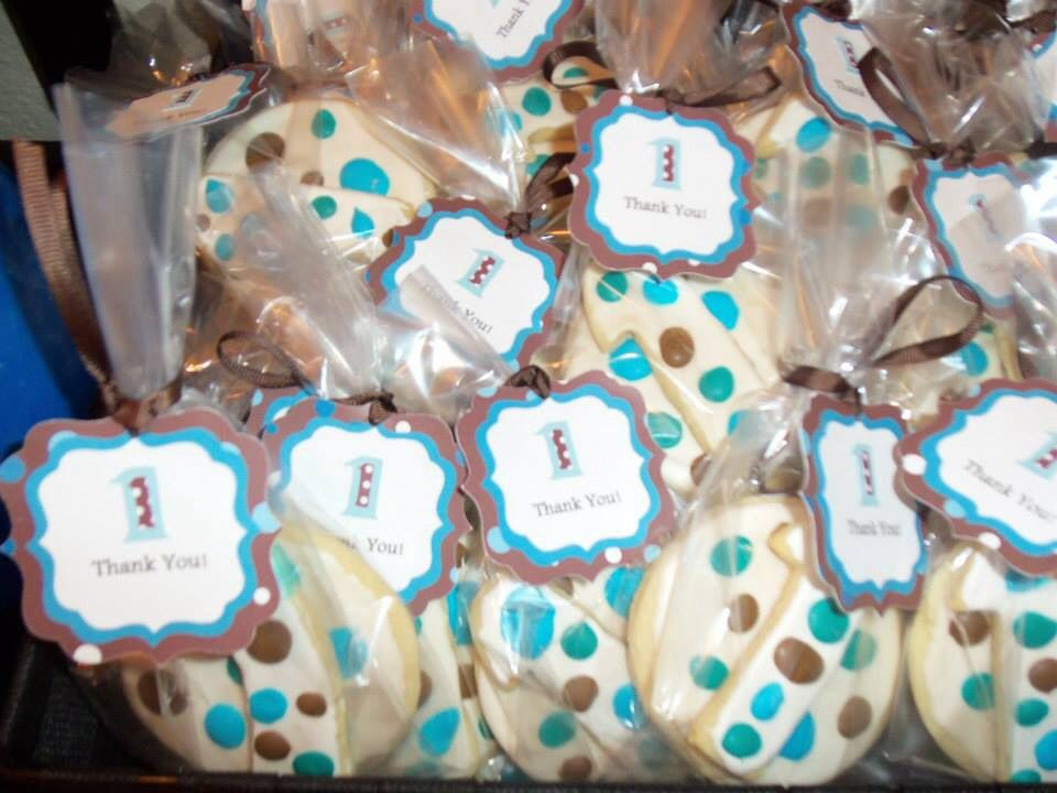 First birthday party cookie favors