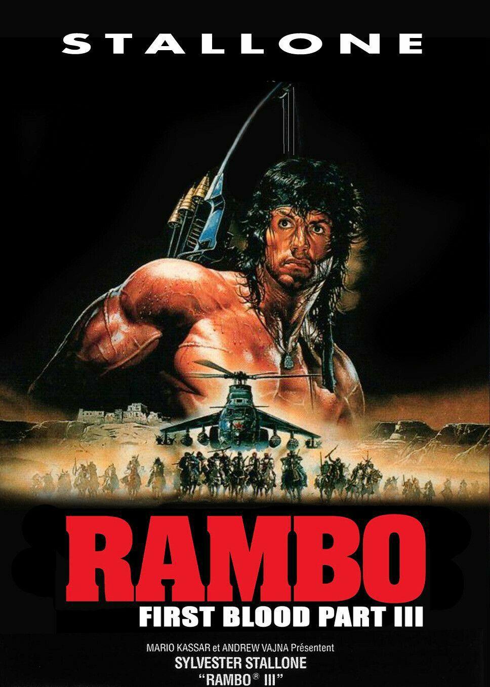 Rambo 3 1988 Sylvester Stallone Goruntuler Ile Poster